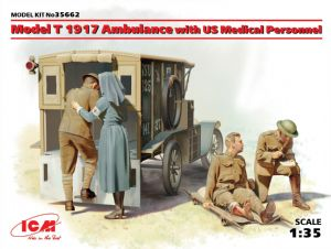 ICM35662 Model T 1917 Ambulance with U.S. Medical Personnel